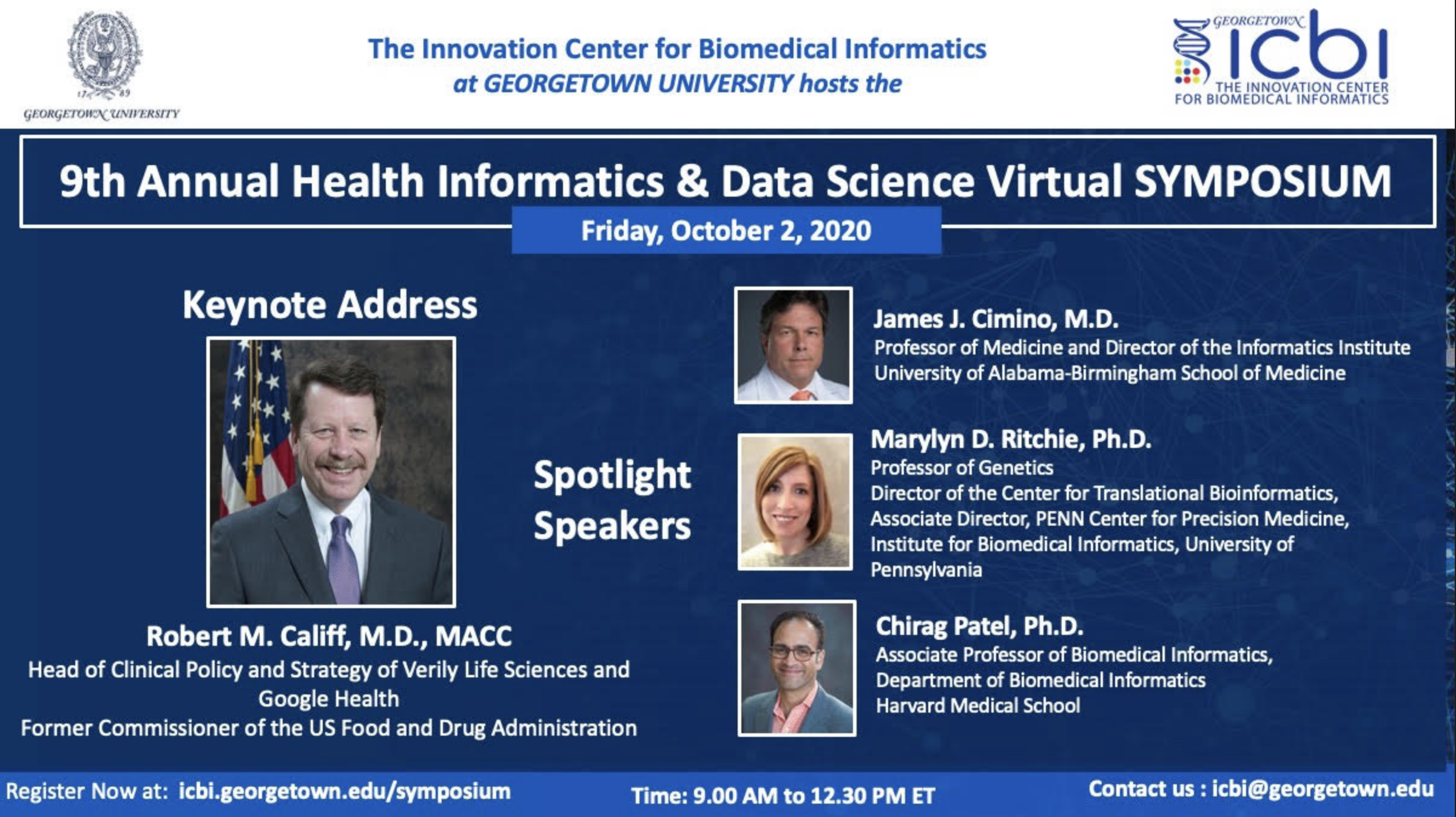 Details for the 9th Annual Health Informatics & Data Science Virtual Symposium