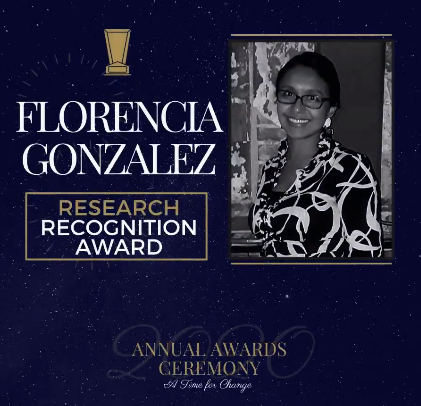 Photo of Florencia Gonzalez with descriptive text